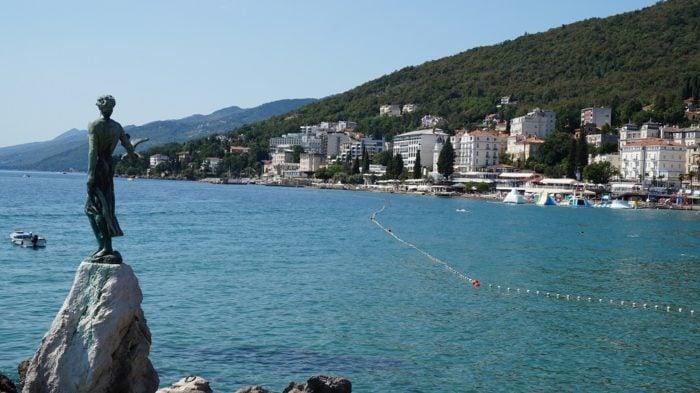 strand in opatija kroatien