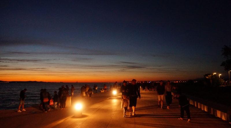 zadar kroatien bei nacht